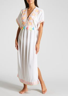 Embroidered Maxi Kaftan