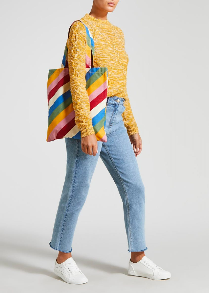 Rainbow Stripe Shopper Bag