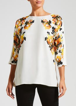 Soon Woven Floral Front Top