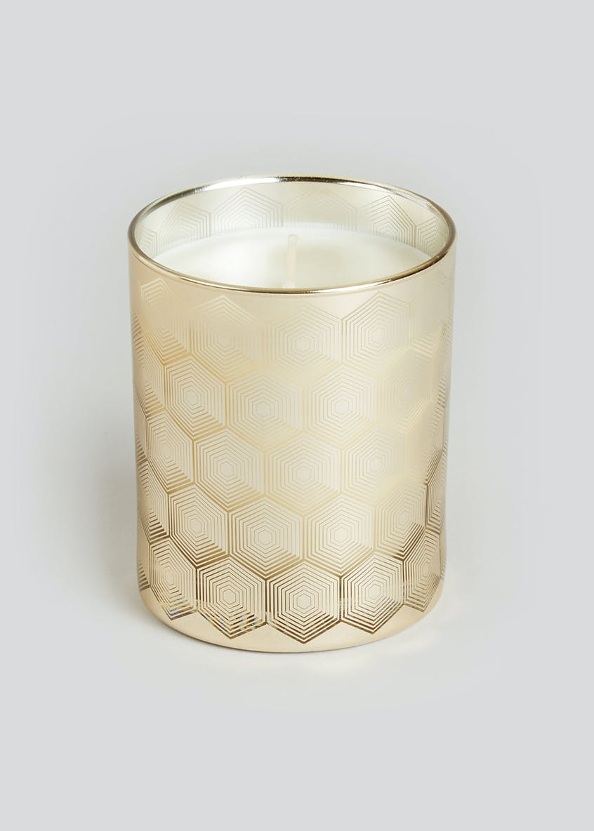 Small Peach Bellini Scented Candle (10cm x 9cm x 9cm)