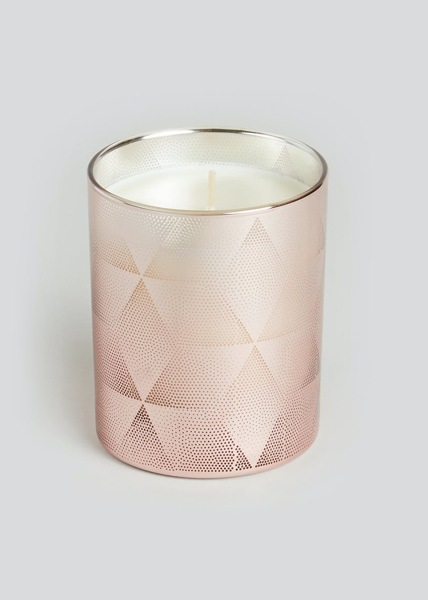 Small Pink Gin Scented Candle (10cm x 9cm x 9cm)