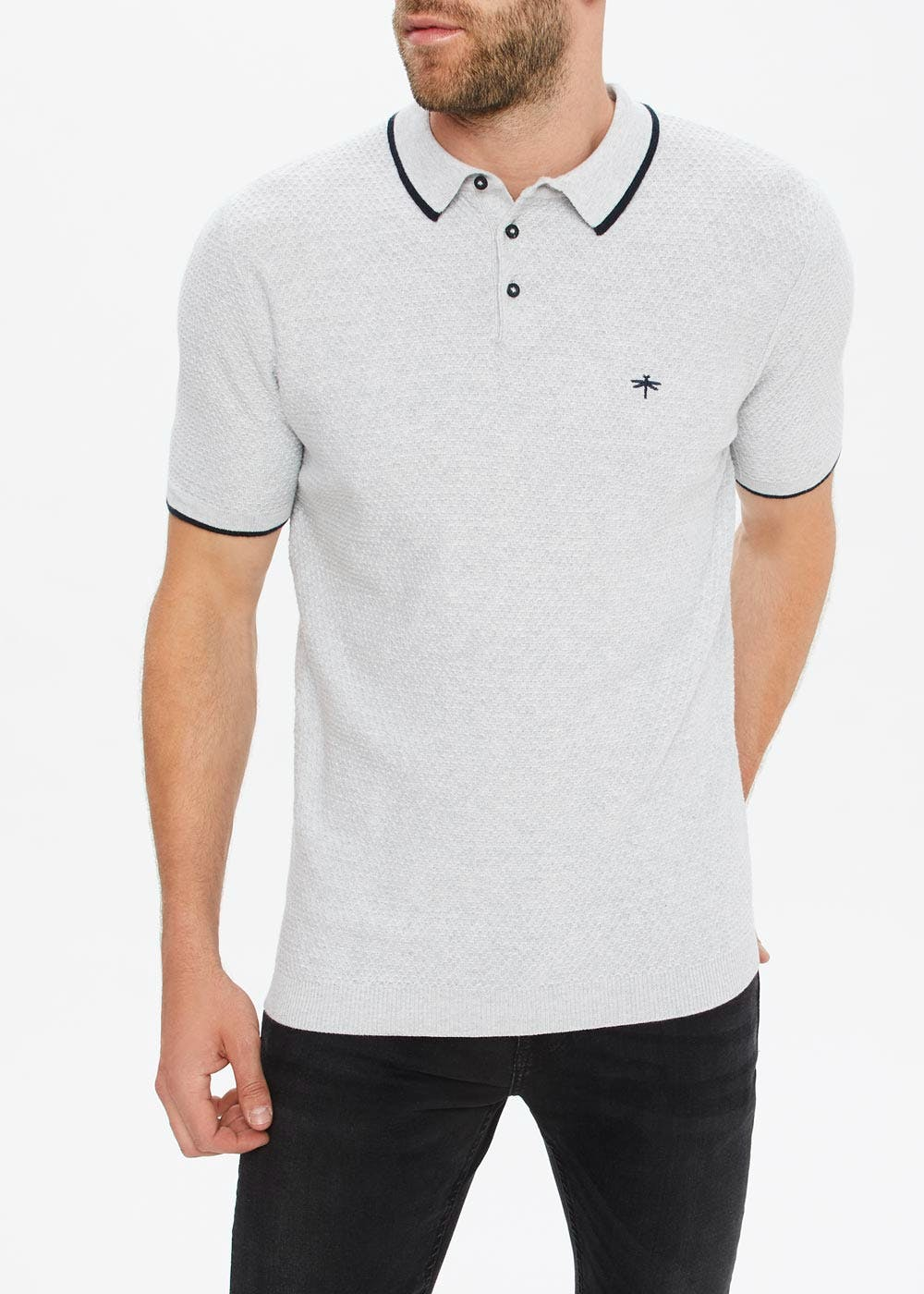 Knitted Polo Shirt by Matalan