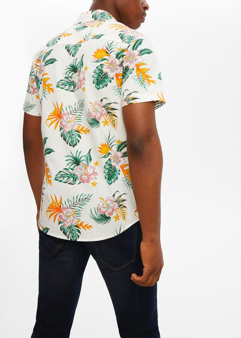 Tropical Floral Short Sleeve Shirt
