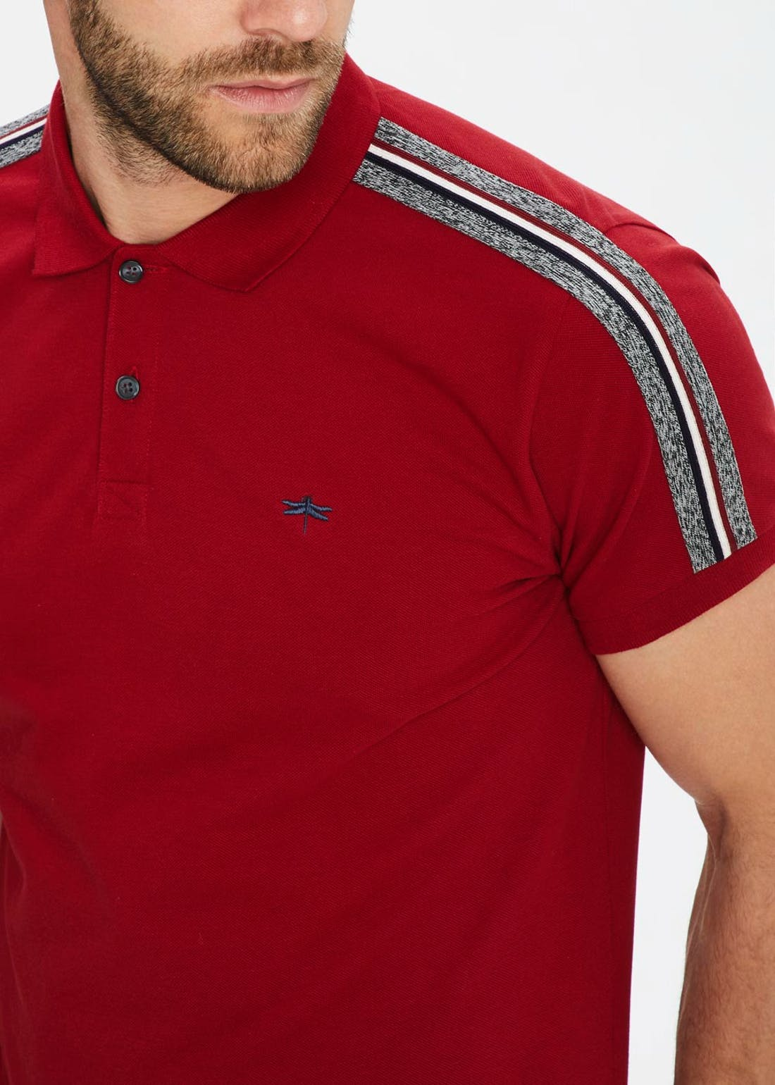 Tape Sleeve Polo Shirt