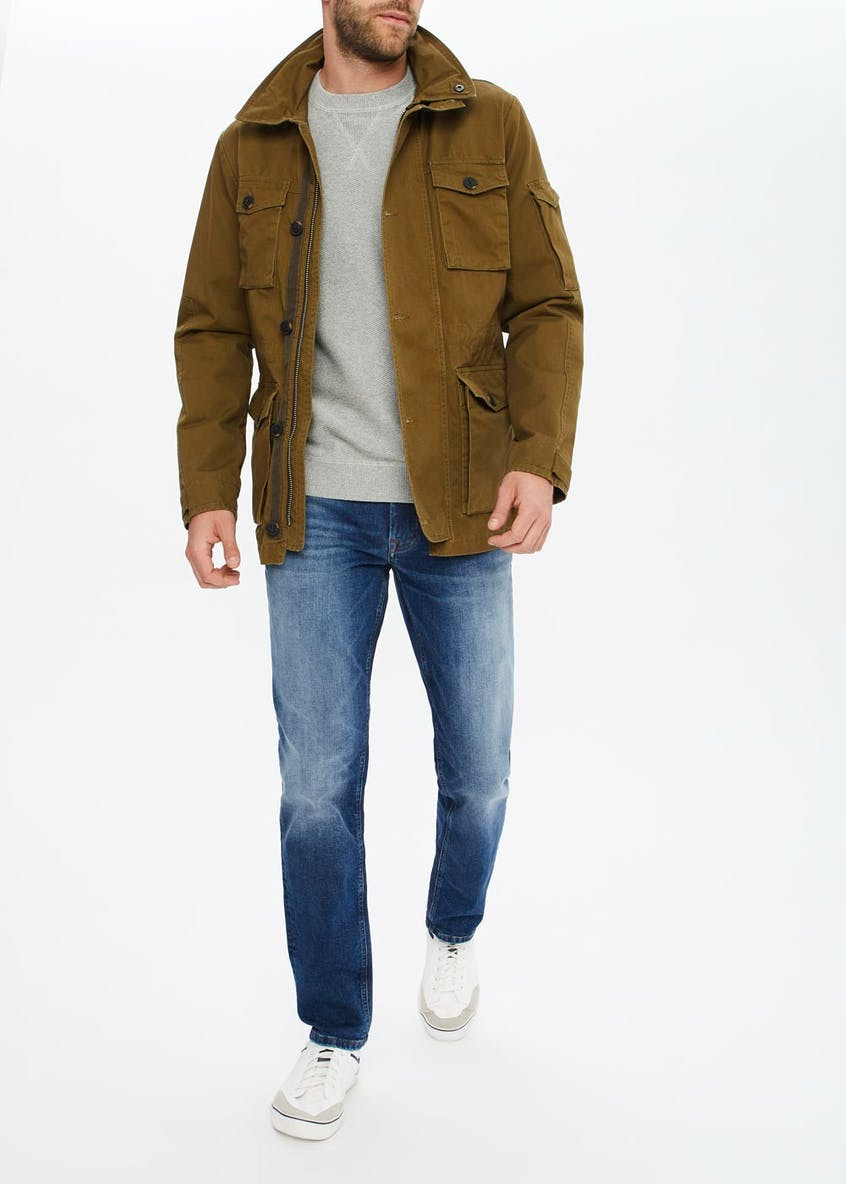 Morley Green Hooded Utility Jacket