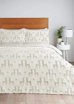 Stag Fleece Christmas Duvet Cover