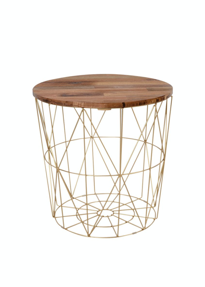 Jaxson Geometric Frame Side Table (48cm x 45cm)