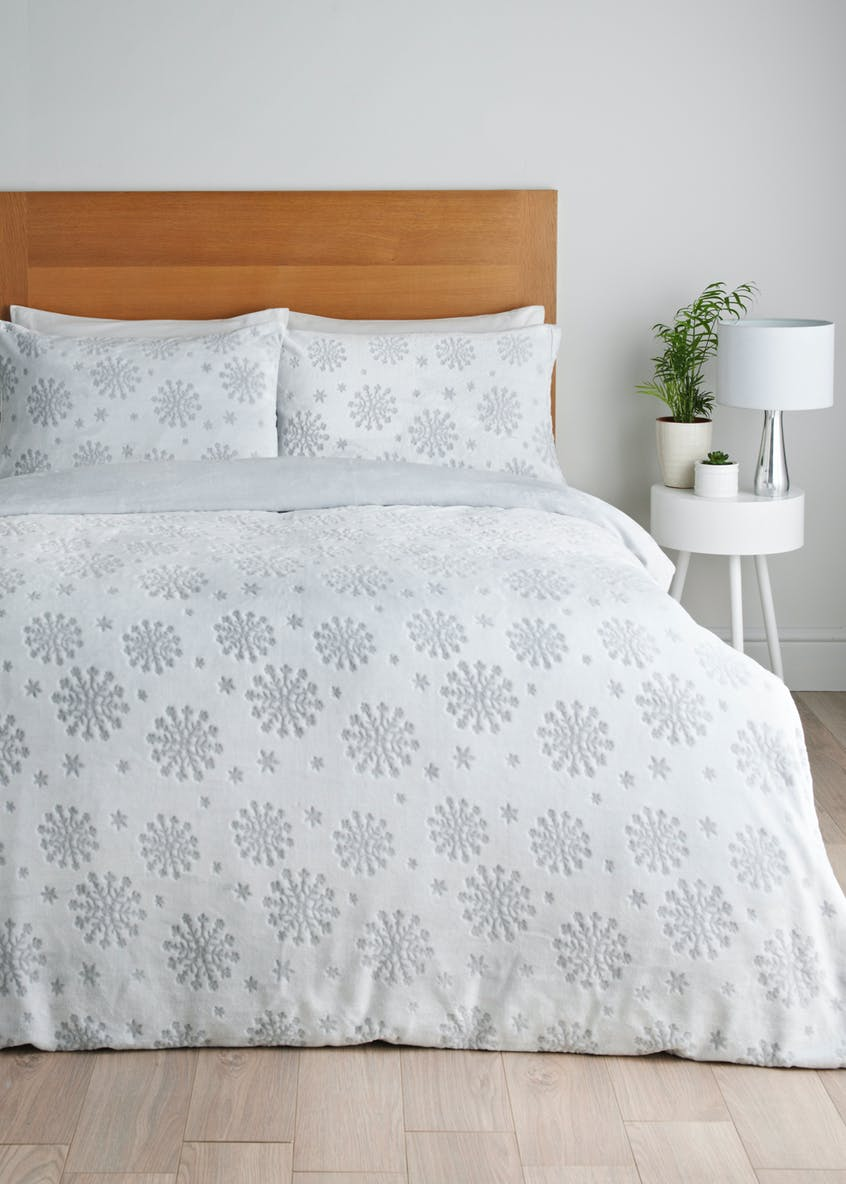 Snowflake Fleece Christmas Duvet Cover
