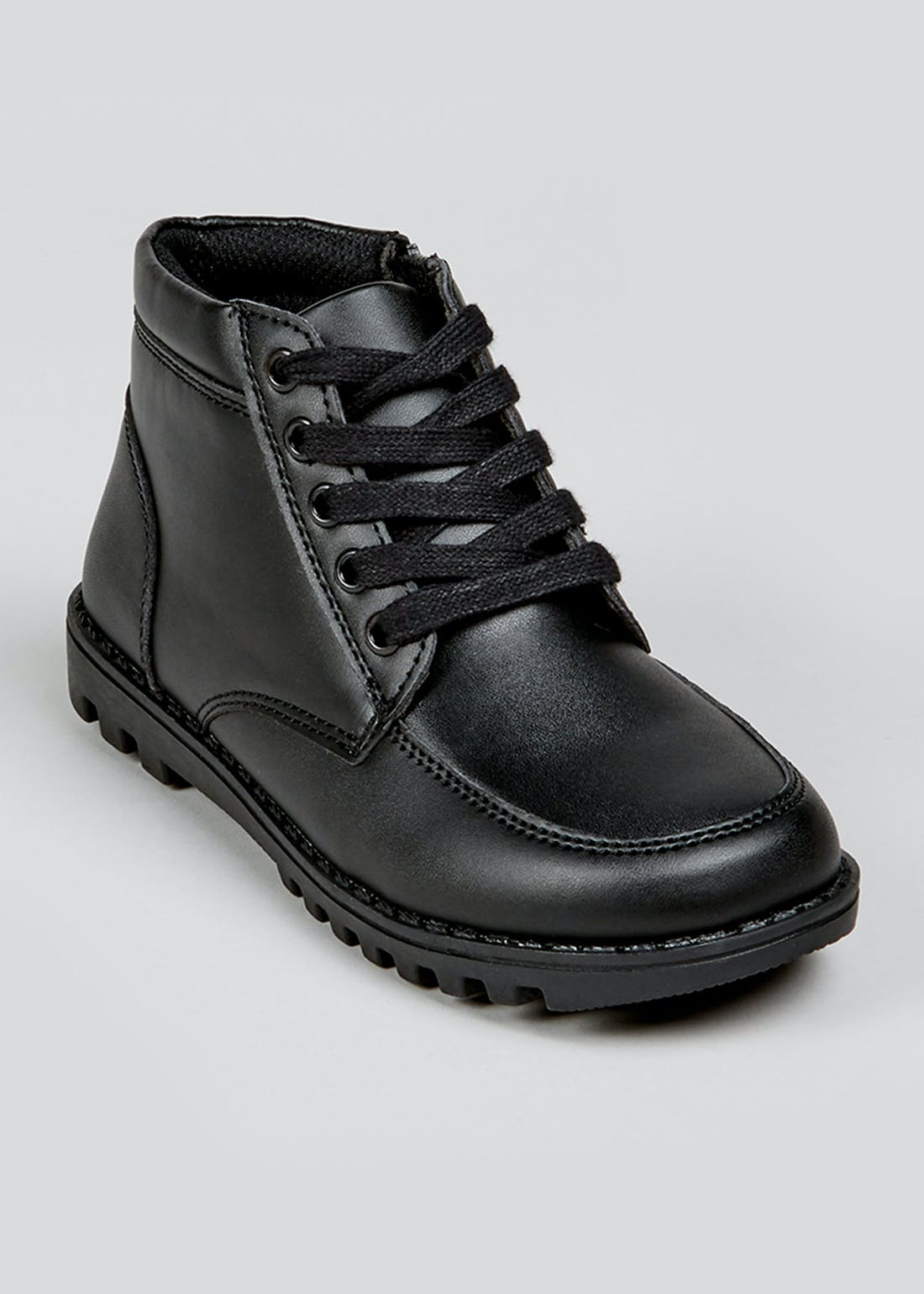 Kids Black Lace Up Boots (Younger 13-Older 5)