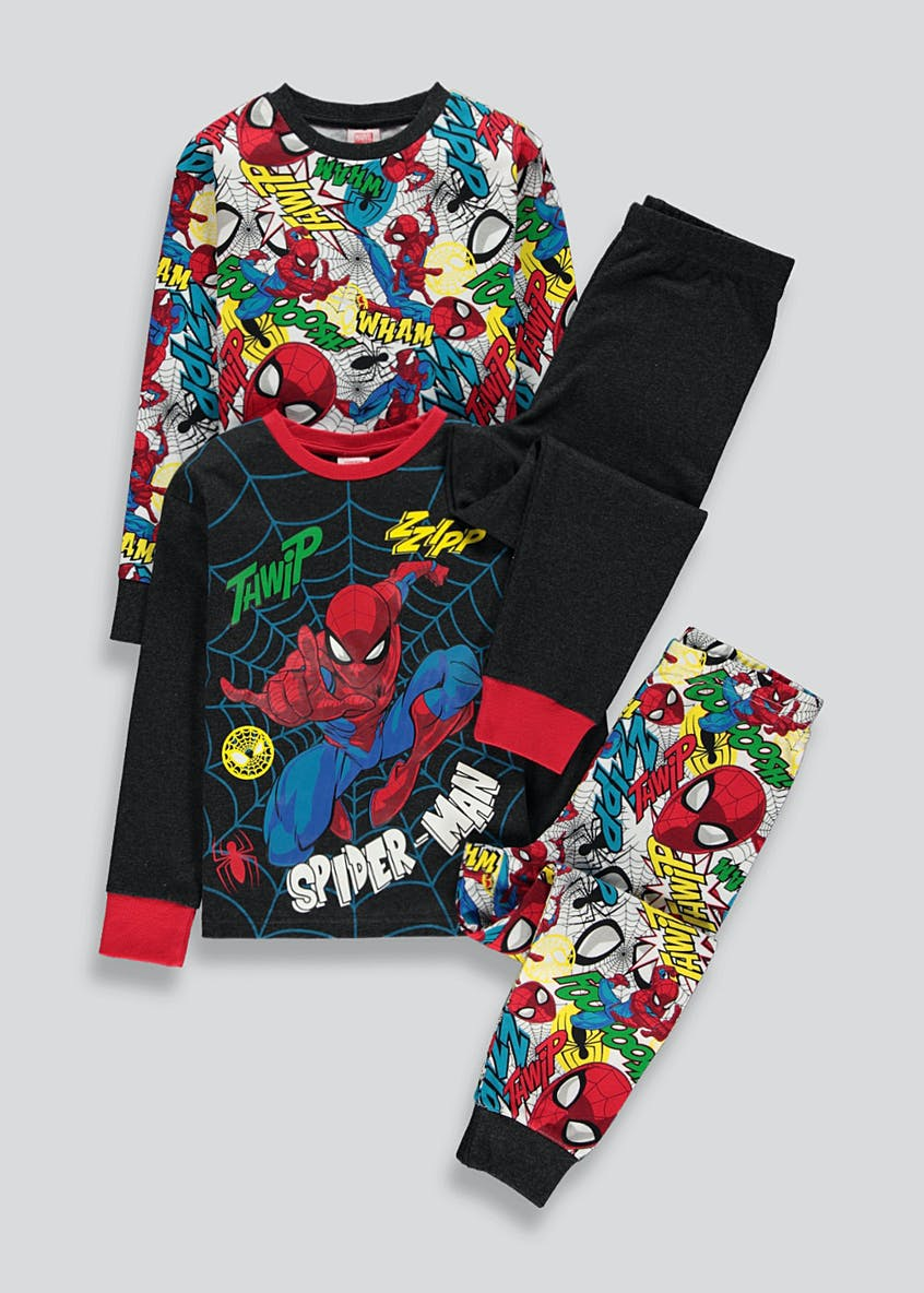 Kids 2 Pack Spiderman Pyjamas (2-9yrs)