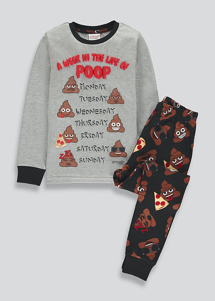 Kids Emoji Poop Pyjamas (6-13yrs)