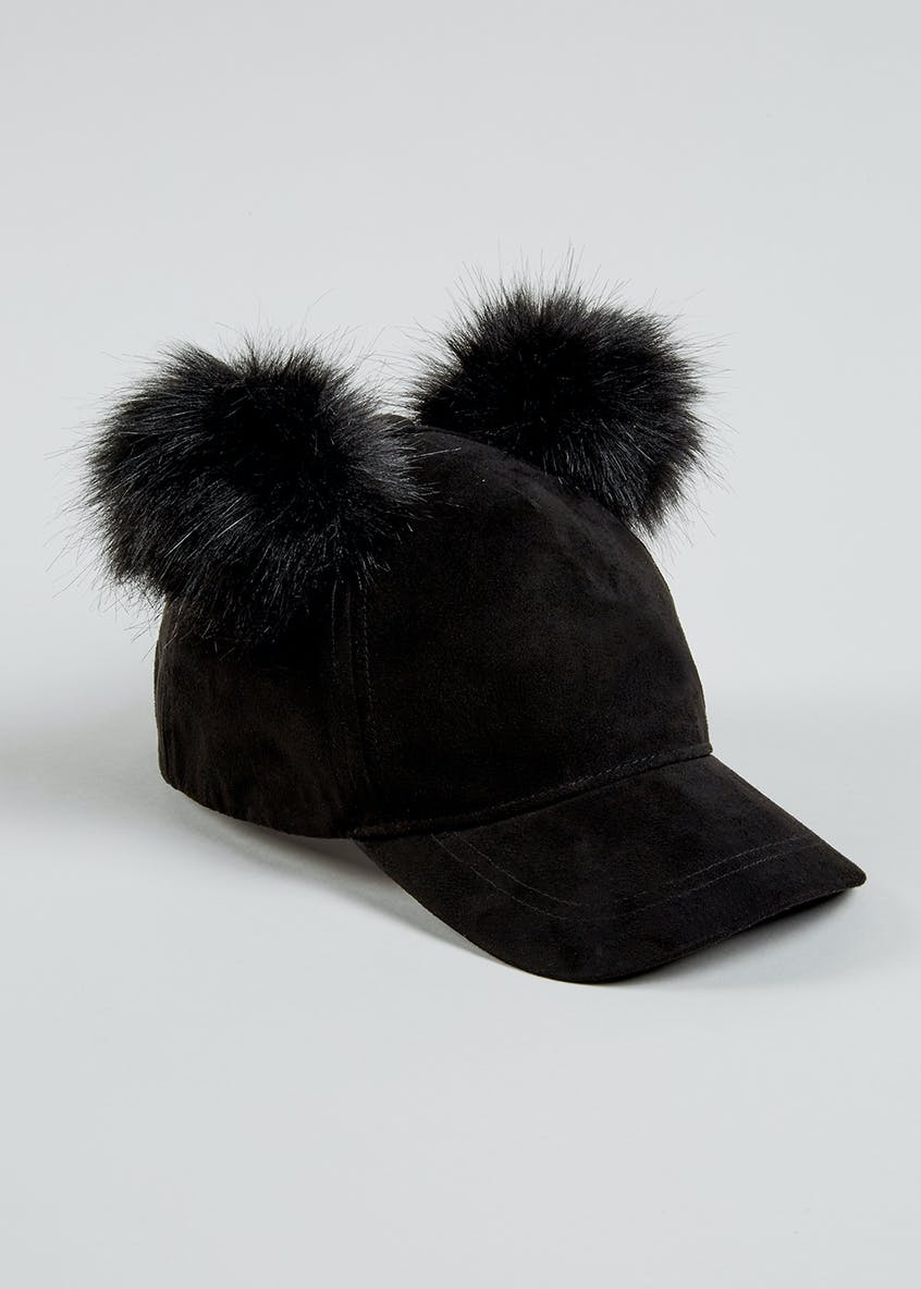 Girls Double Pom Pom Cap (7-13yrs)