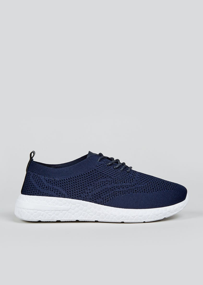 Navy Lightweight Knitted Trainers