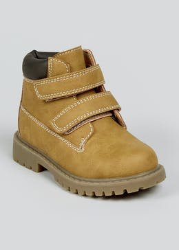 Boys Tan Hiker Boots (Younger 4-12)