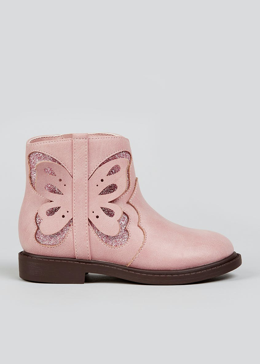 Girls Butterfly Boots (Younger 4-12)