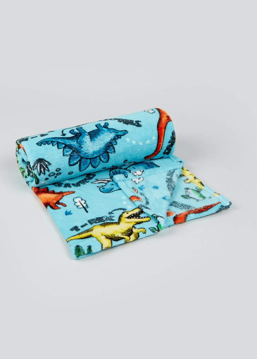 Dinosaur Fleece Throw Blanket (150cm x 130cm)