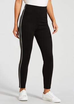 Side Stripe High Waisted Body Shaper Leggings