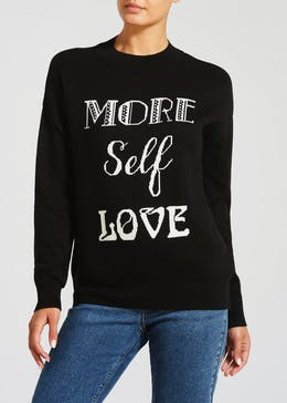 Self Love Slogan Jumper