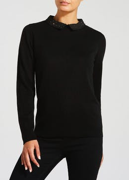 2 in 1 Studded Shirt Jumper