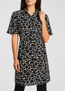 Giraffe Print Mini Short Dress
