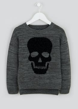 Boys Chenille Skull Jumper (4-13yrs)
