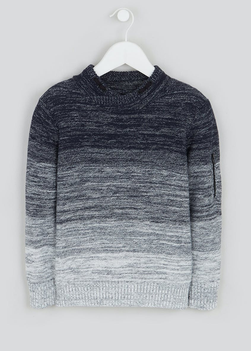 Boys Knitted Ombre Jumper (4-13yrs)