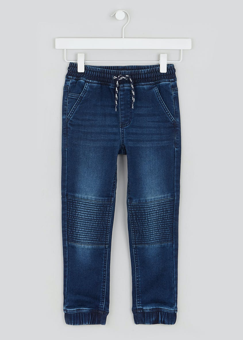 Boys Slim Knitted Biker Jeans (4-13yrs)