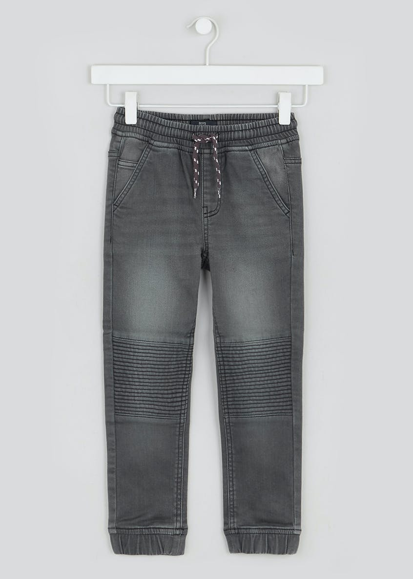 Slim Knitted Biker Jeans (4-13yrs)