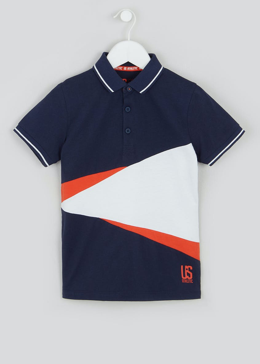 Boys Cut & Sew Polo Shirt (4-13yrs)