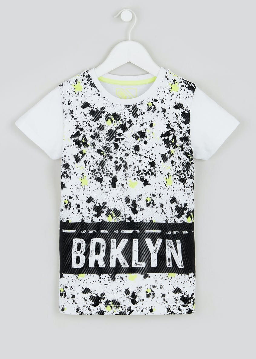 Boys Mesh Paint Splatter T-Shirt (4-13yrs)