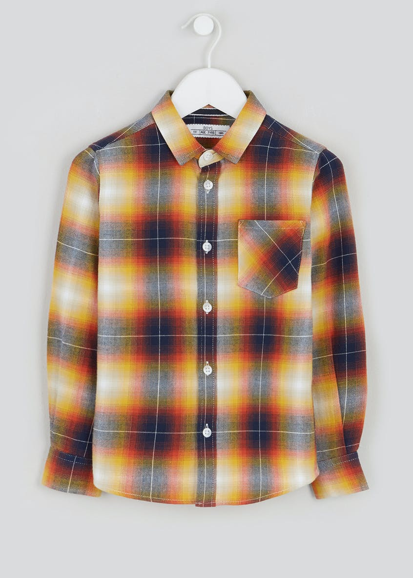 Boys Brushed Long Sleeve Check Shirt (4-13yrs)
