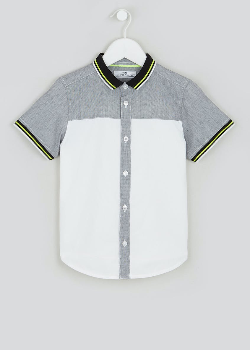 Boys Short Sleeve Colourblock Shirt (4-13yrs)