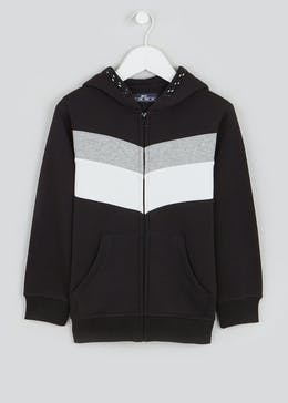 Boys Panel Zip Through Hoodie (4-13yrs)