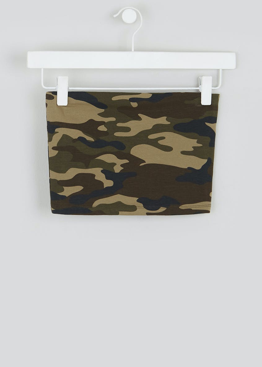 Girls Candy Couture Camo Bandeau Top (9-16yrs)