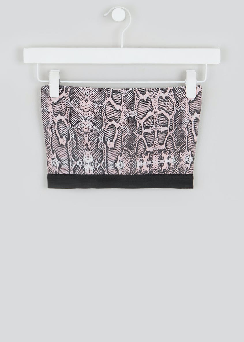 Girls Candy Couture X Snake Print Bandeau (9-16yrs)