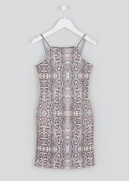Girls Candy Couture X Snake Print Dress (9-16yrs)