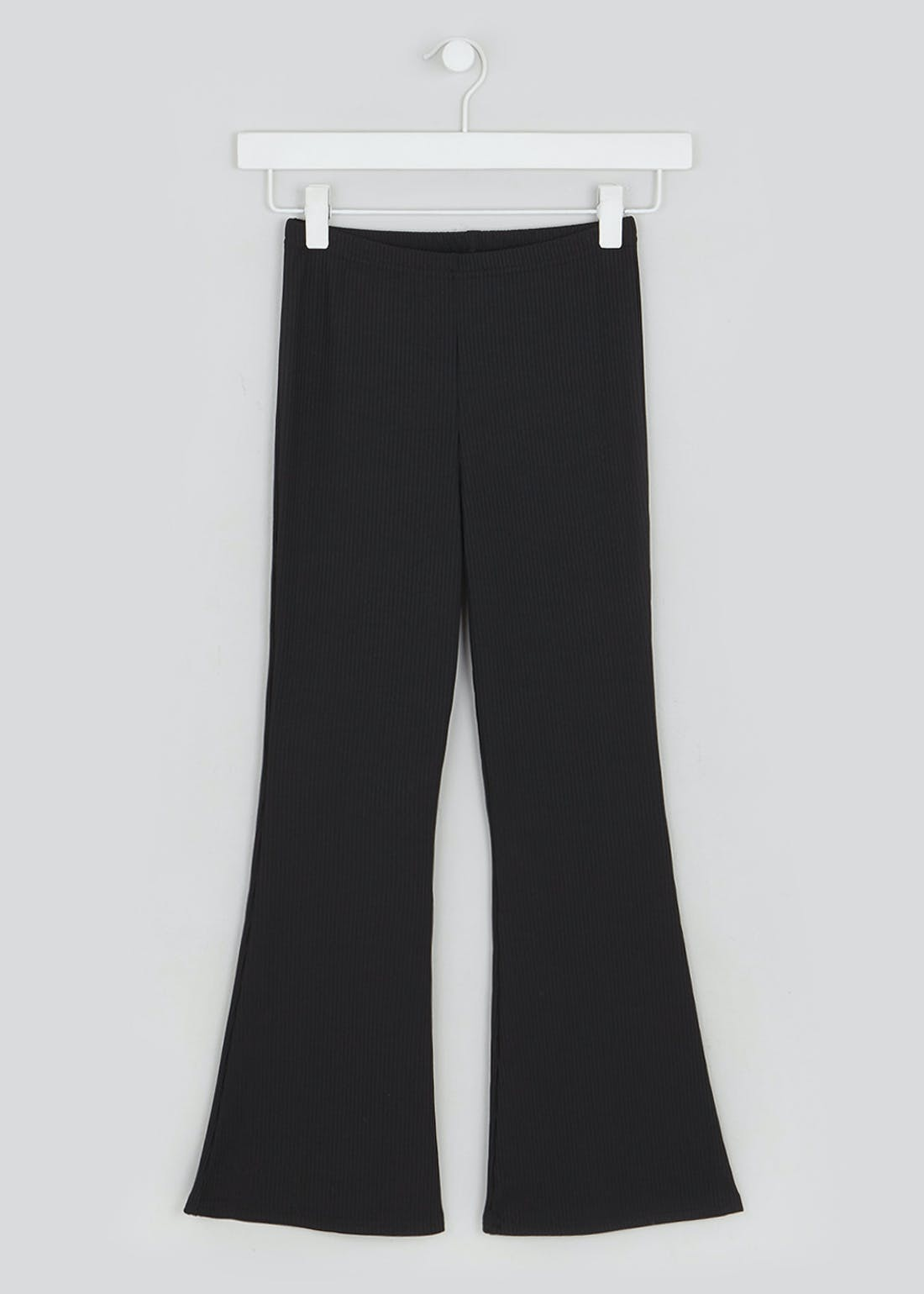 Girls Candy Couture X Ribbed Kick Flare Co-Ord Trousers (9-16yrs)