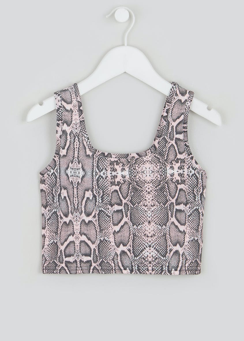 Girls Candy Couture X Snake Print Crop Top (9-16yrs)