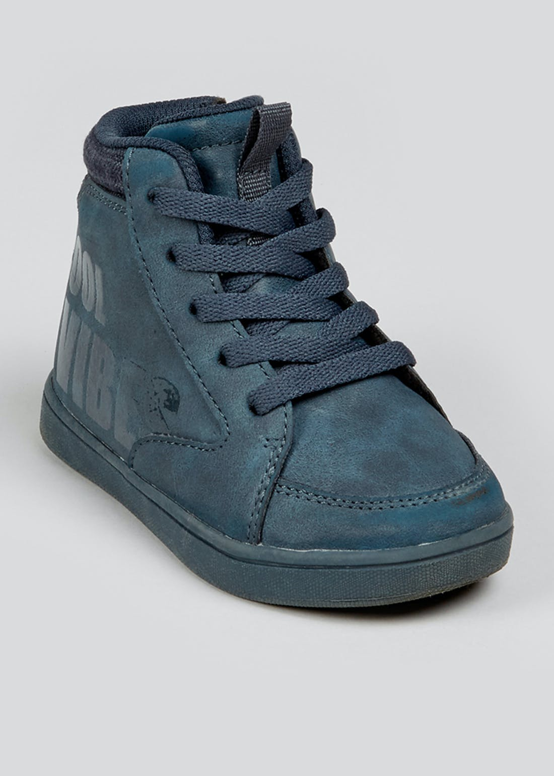 Kids Navy Hi Top Trainers (Younger 4-12)
