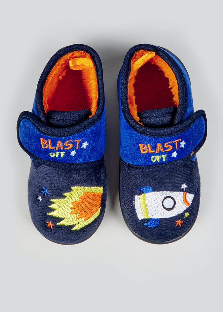 Kids Rocket Co-Ord Slippers (Younger 4-12)