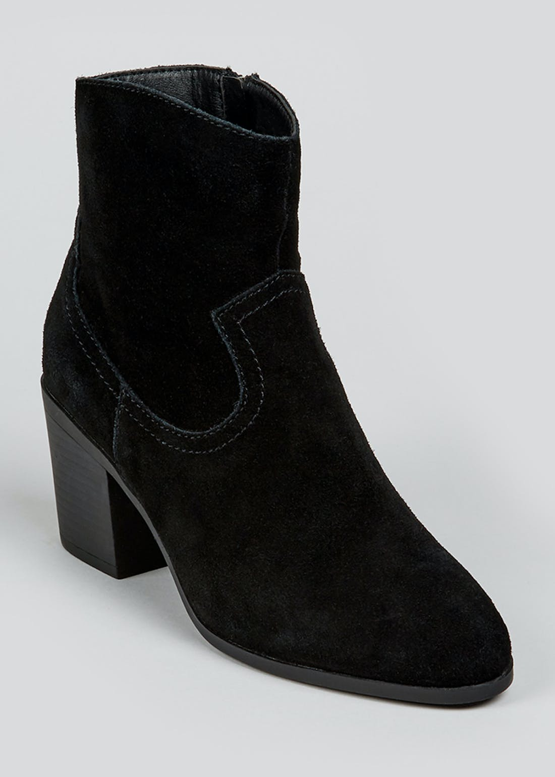 Soleflex Black Real Suede Western Boots