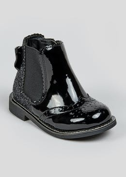 Girls Patent Glitter Boots (Younger 4-12)