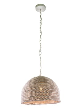 Lola Wooden Beaded Chandelier (H108-38cm x W37cm)
