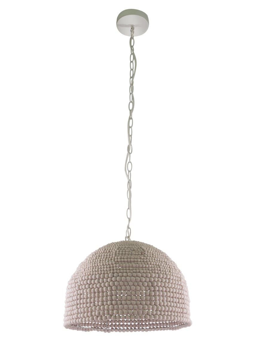 Lola Wooden Beaded Chandelier (H38-108cm x W37cm)