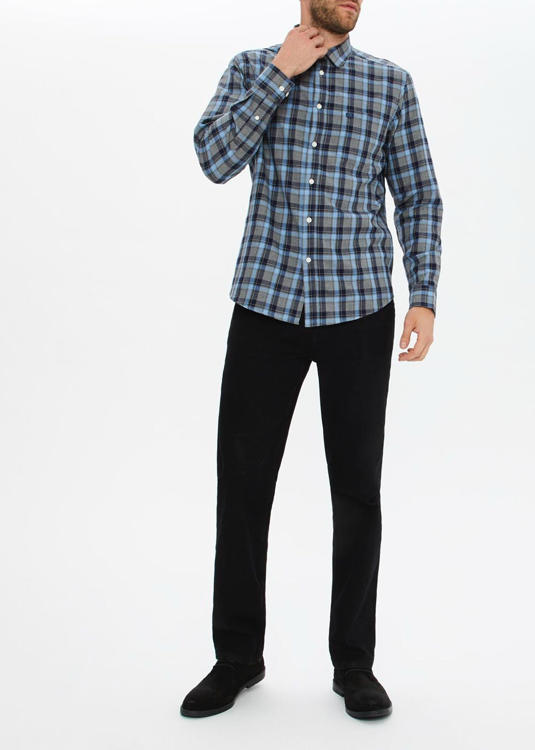 Lincoln Check Marl Long Sleeve Shirt