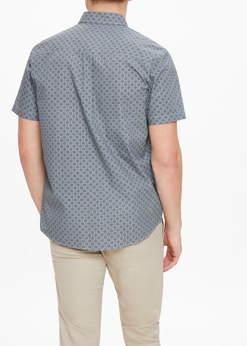 Short Sleeve Floral Tile Shirt