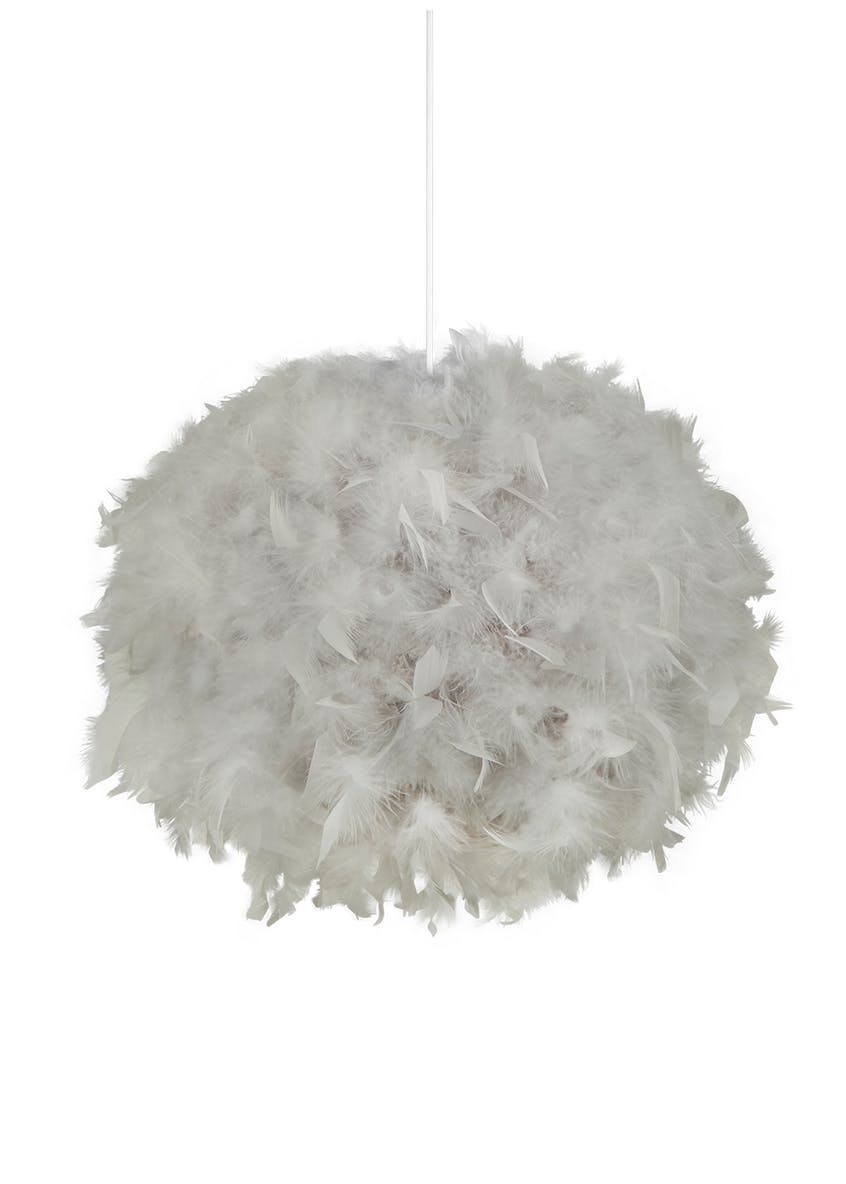 Poppy Feathered Shade (35cm x 27cm)