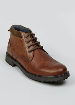 Brown Real Leather Chukka Boots
