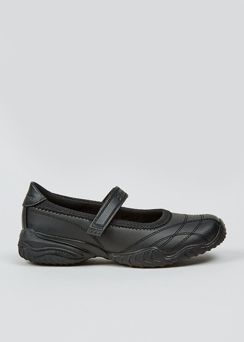 Girls Skechers Black Velocity Pouty Shoes (Younger 10-Older 5)