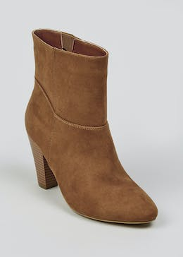 Slouch Heeled Ankle Boots